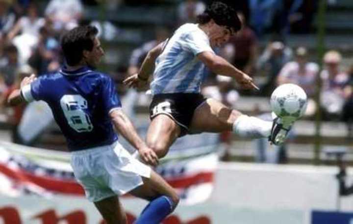 Argentina contra Italia en el Mundial '86