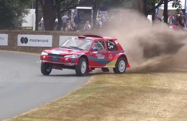 Peugeot 205 de rally con motor rotativo. Festival de la Velocidad de Goodwood 2018