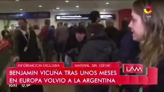 Benjamín Vicuña llegó a la Argentina y habló de todo