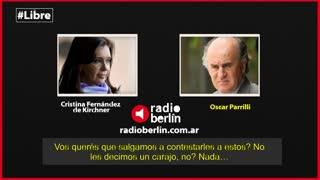 Cristina Kirchner critica la reunión entre Pichetto y Massa e insulta a Stolbizer.