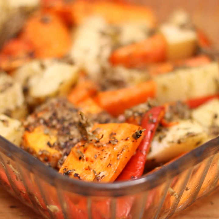 Receta de verduras con queso parmesano al horno