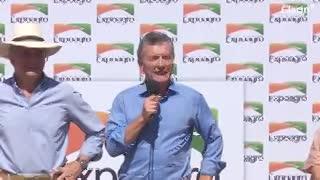 El discurso del presidente Macri en la apertura de Expoagro.