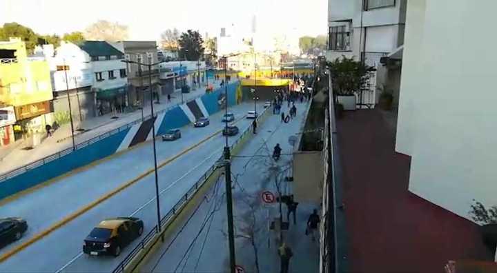 Inauguran el tunel de la Av. Balbín en Saavedra