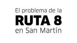 El intentende de San Martín, Gabriel Katopodis, reclama obras en la Ruta 8