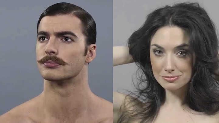 La evolución de los cortes de pelo a través de las décadas.