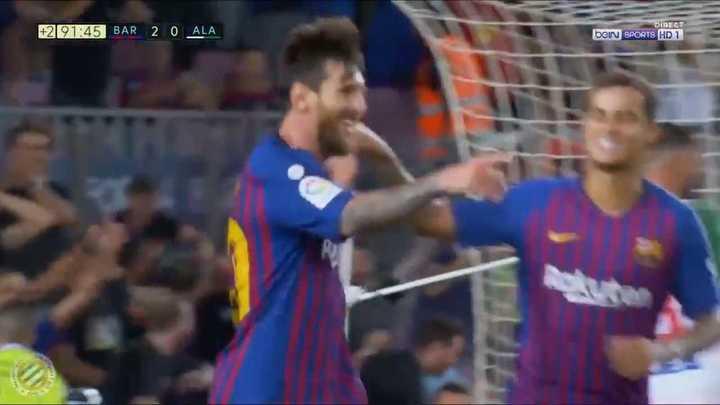 Messi convirtió el tercero