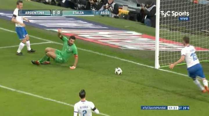 Le sacaron el gol a Higuaín de la línea