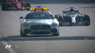 La accidentada disputa del GP de Azerbaiyán del 2017. (Fórmula 1)