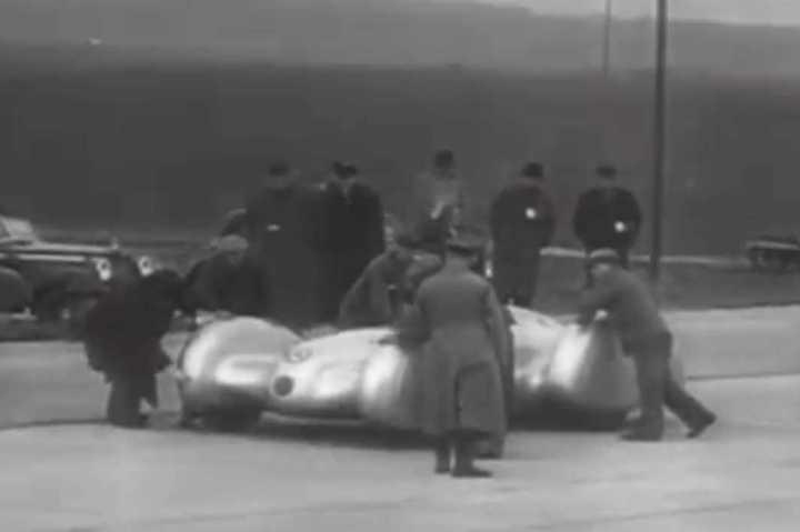 Récord de velocidad de Mercedes en 1938