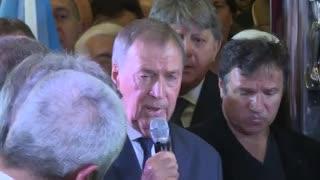 La despedida a José Manuel De la Sota del gobernador Juan Schiaretti