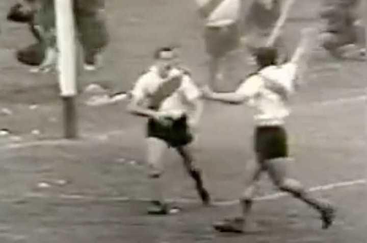 Gol de Labruna a Boca, en 1954