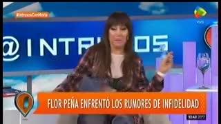 """Florencia Peña habló de su pareja en """"Intrusos"""". Parte 1"""