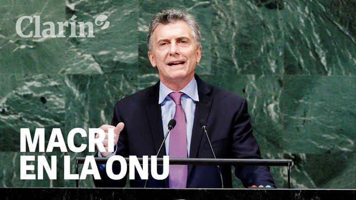 El discurso de Macri en la ONU