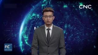 Así presenta las noticias el periodista virtual de Xinhua