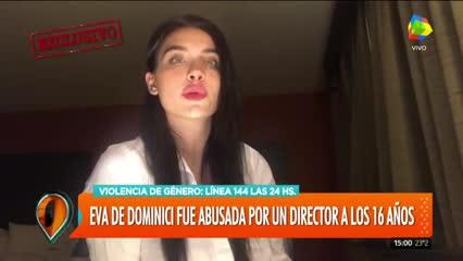 Eva de Dominici subió un video en el que relató el acoso que sufrió por parte de un director de cine. Parte 1