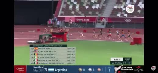 La caída de Sifan Hassan en los 1.500 metros del atletismo.