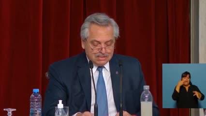 Apertura de sesiones en el Congreso - Video - Alberto Fernández confirmó que desdolarizará las tarifas