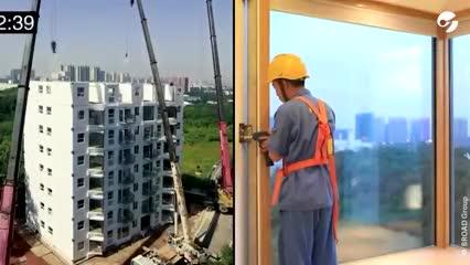 Video: Construyeron un edificio de 10 pisos en 29 horas