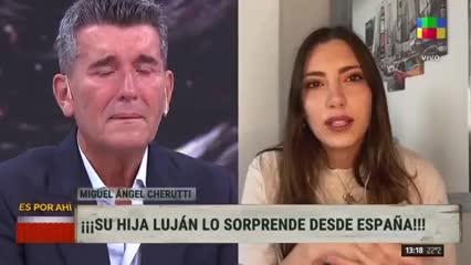 Video:Miguel Ángel Cherutti se quebró cuando vio a su hija por TV
