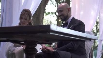 Video exclusivo del casamiento de Abel Pintos y Mora Calabrese: el