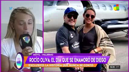 Rocío Oliva contó cómo se enamoró de Diego Maradona