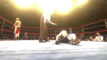 Video: Debutó en el boxeo pesando 186 kilos y sufrió un KO espectacular.