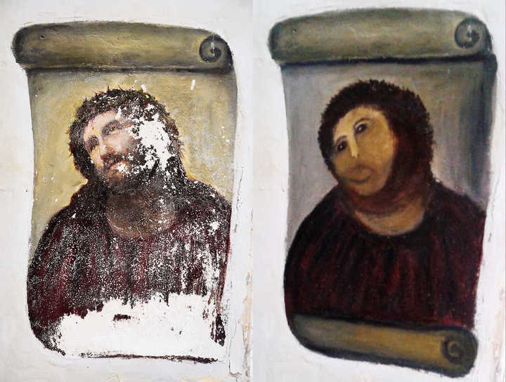 """El """"desastre artístico"""" que le cambió la cara a Cristo"""