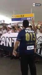 La torcida del Santos espera por Jorge Sampaoli (TNT Sports)
