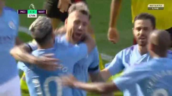 Video: El Manchester City le gana 5 a 0 al Watford en el primer tiempo