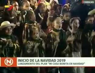 Video: el colorido acto con el que Maduro dio inicio a la Navidad en  noviembre