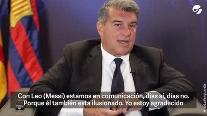 Joan Laporta, presidente del Barcelona - Video: