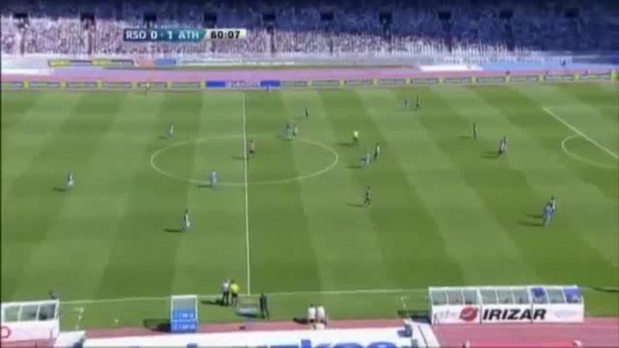 El gol de Iñigo Martínez al Athletic de Bilbao.