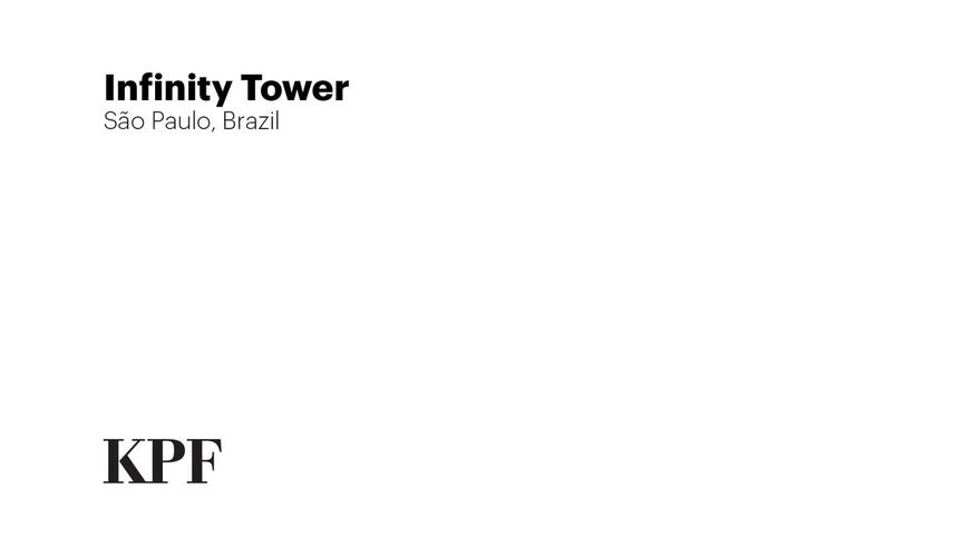 Infinity Towerhttps: Diseño de KPF para San Pablo, Brasil