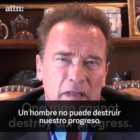 Arnold Schwarzenegger contra Trump.
