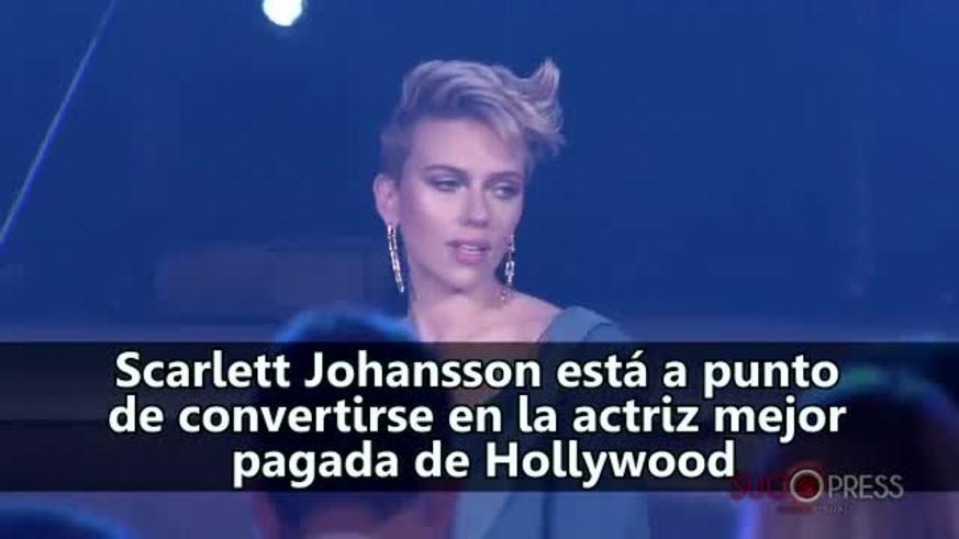 Scarlet Johannson será la actriz mejor pagada de Hollywood.