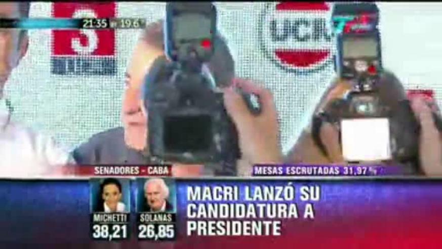 Julio Cobos celebró su contundente triunfo en Mendoza. (Fuente: TN)