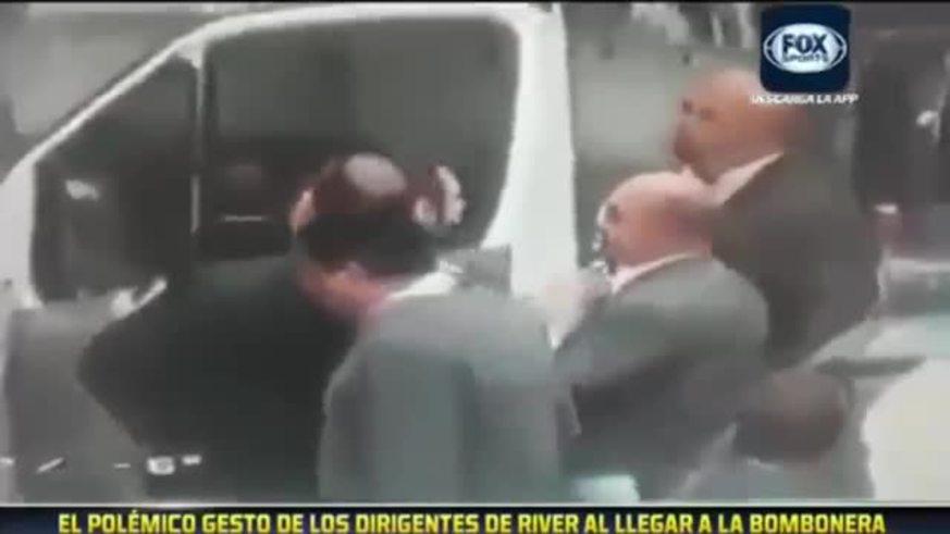 El gesto de los dirigentes de River en la Bombonera