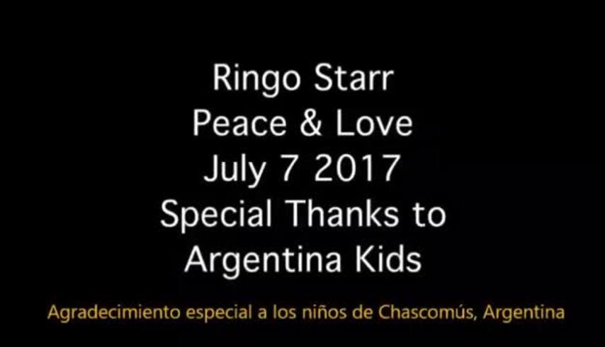 Ringo Starr le mandó un saludo a la orquesta Escuela de Chascomús.