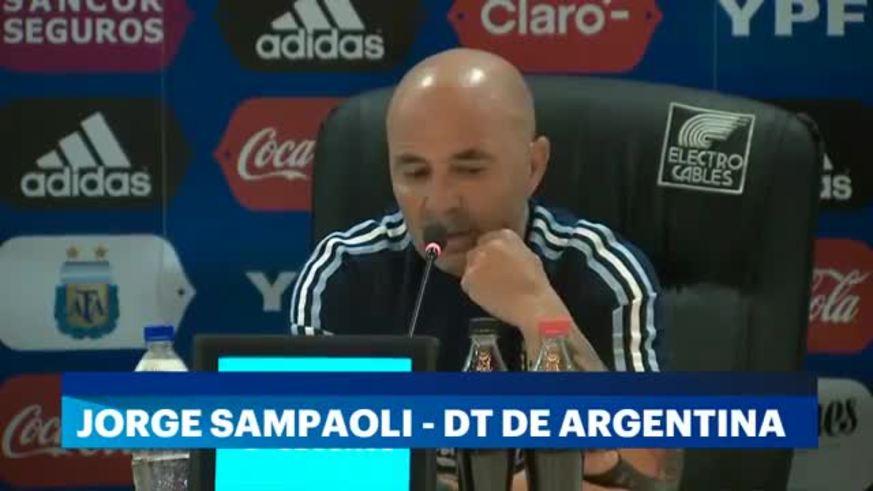 La conferencia de prensa de Jorge Sampaoli antes del partido frente a Ecuador.