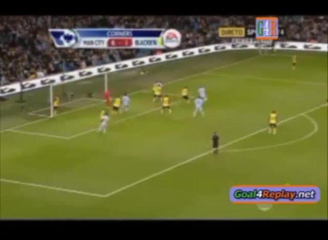Blooper del arquero y gol de Agüero al Blackburn (ESPN).