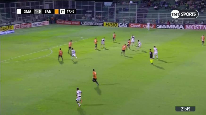 Carabajal marcó el 2 a 0 para el Verdinegro