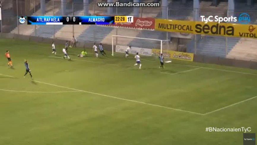 Los goles de Atl. Rafaela 1 - Almagro 1