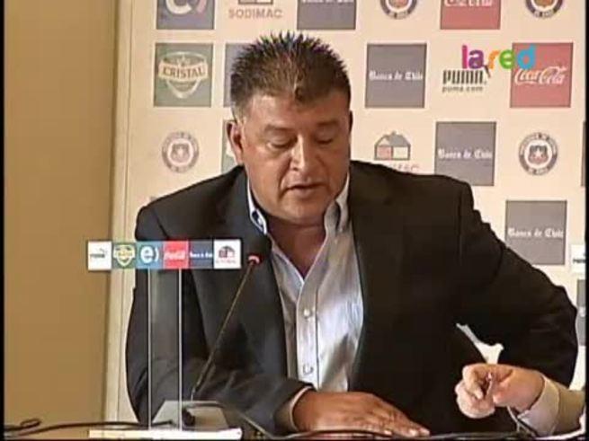 La presentación de Borghi como DT de Chile.