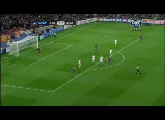 Iniesta convirtió el 3 a 1 para el Barcelona (youtube).