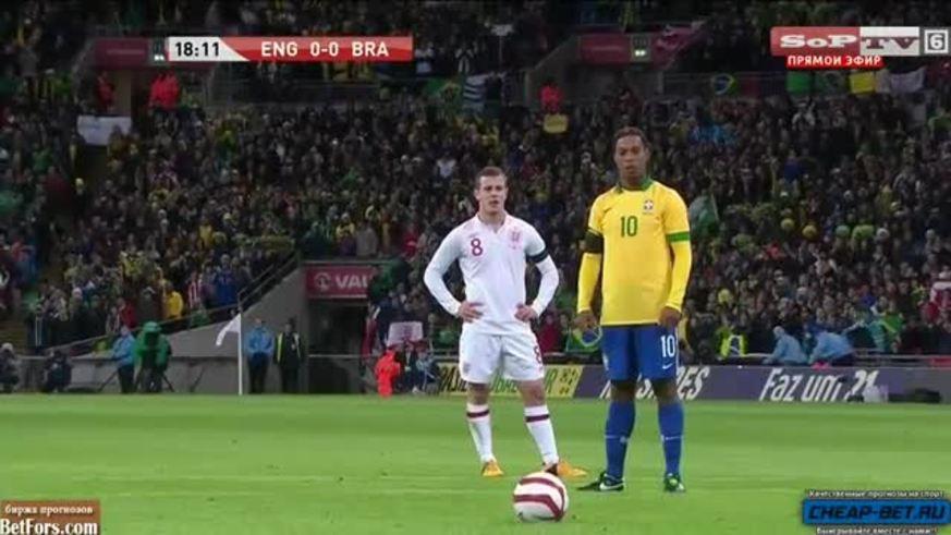 Mirá la tapada de Joe Hart contra Ronaldinho.