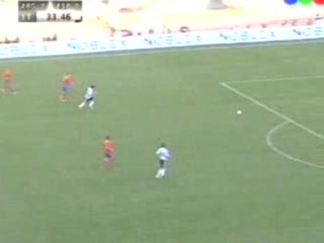 Mirá la macana de Reina y el gol de Tevez.