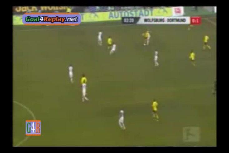 El gol de Lucas Barrios a Wolfsburgo. (Goal4replay)