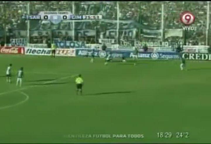 El gol de Oviedo: Sarmiento 1 - GELP 0