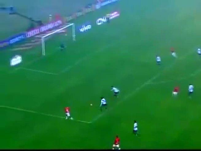 Un lindo gol de D'Alessandro, el quinto.