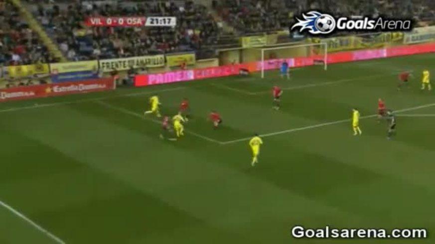 Los goles del Villareal al Osasuna. (Youtube)